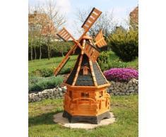 Grande mulino a vento con banderuola segnavento e solare Tipo 12.1 - 1,20 m, nero