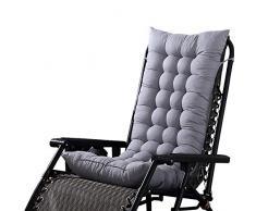 LEM - Cuscino per Sedia a Sdraio, per Giardino, Patio, Sedia a Sdraio (Sedia Non Inclusa), Grigio, Type_A