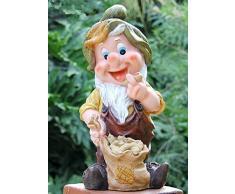 GMMH 50003-7 Sette Nani Nani Design-7, 37 cm, Giardino Gnomo da Giardino figurina Decorazione