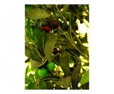 Albero con lanature 200 cm, tubercolina ceppo + frutta, pianta artificiale