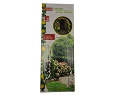 Lifetime Giardino Pergola Giardino arco piante verdi rosa 140 x 240 x 40 cm