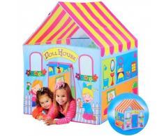 Tenda da Gioco Casa delle Bambole per Bambini 112 x 90 Giardino Casa Campeggio