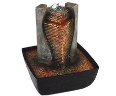 """Agora-Tec® """"AFIYA"""" - Gioco con acqua e fontana con zampillo con illuminazione LED, piacevole rumore leggero dell'acqua, altezza: 21 cm"""