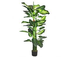Decovego Dieffenbachia Pianta Albero Artificiale Plastica 130cm