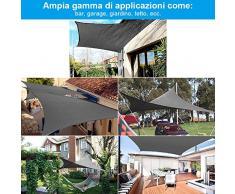 Rovtop ombrellone, protezione solare giardino balcone e terrazza PES poliestere impermeabile idrorepellente impregnato all'acqua dispenser rettangolo 2 * 3 M