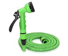 Navaris Tubo Estensibile da Giardino - 5-15m Pistola 7 funzioni getti - Triplo Strato Ultra Resistente Raggi UV 0°C per irrigazione Giardino