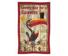 Guinness Canovaccio in cotone con tucano su segnavento, stile nostalgico