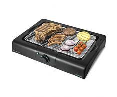 Cecotec Barbecue Elettrico PerfectSteak 4200 Way. Tavolo, griglia in Acciaio Inossidabile, Altezza Regolabile su 3 Livelli, Vassoio per Grasso, Temperatura Regolabile, 2400 W.