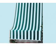 GDLC TENDA DA SOLE A CADUTA PER BALCONE ESTERNO L. 140 x h. 250 cm BIANCA VERDE