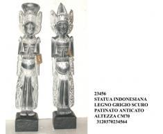 Arredo etnico: statua in legno con dea indonesiana