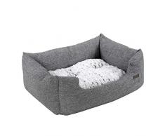 Feandrea PGW22G, Cuccia divano letto per canit, Cuscino materassino lavabile, 48 x 18 x 38 cm, Griggio