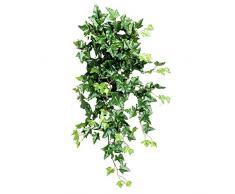 Edera Verde Lusso - Cespuglio Artificiale Cadente da Arredo Interno - 204 Foglie - Lunga 90 cm
