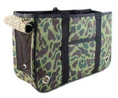 La Vogue-Borsa per il Trasporto Borsa Sacchetto per Cani Gatti Viaggio Outdoor (Colore 3, 50 Centimetri)