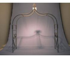 Arco per rose grigio grande B = 80 cm, H = 95 cm, T = 12 cm