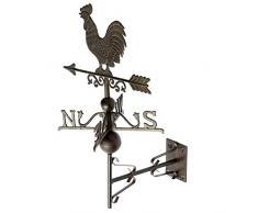 Nostalgia gallo parete banderuola decoratione giardino segnavento di ferro