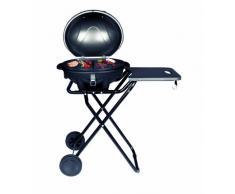 SUNTEC Barbecue/braciere elettrico BBQ-9493 [cofano amovibile con indicatore di temperatura, ripiano d'appoggio, 46x35 cm piastra, piede d'appoggio con ruote, max. 2400 W]