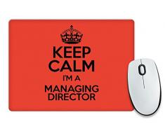 RED Keep Calm I'm a direttore colore 3368-Cassetta per posta Tappetino per Mouse