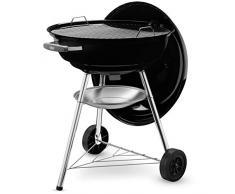 Weber, 1321004, Barbecue compatto a carbone, 57 cm, Nero