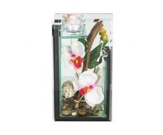Atmosphera - Composizione di fiori artificiali, orchidee, altezza 25 cm, colore: bianco