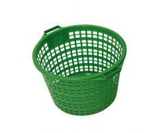 Xclou 343182-Cesto da giardino, capacità massima: 50 kg, in plastica, colore: verde