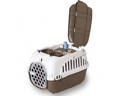 TRASPORTINO da auto e bicicletta per cani gatti conigli con ciotola doppia in OMAGGIO 100% MADE IN ITALY (TORTORA)