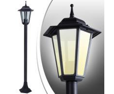 Jago GARL07Schwarz Lampioni lanterne da giardino Set da 6 in nero