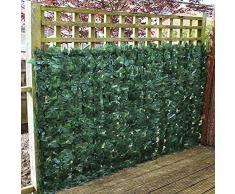 True Products Ivy 1 x 3 m screening edera artificiale foglia siepe pannelli su rotolo privacy recinzione da giardino – verde