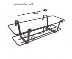 Balconiera in ferro batturo h 15cm.