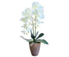 Maia Shop Orchidea Artificiale, Altezza 65 cm, phalaenopsis, Vaso da Fiori in Ceramica, Ideale per la Decorazione Domestica, Tocco Naturale (Orchidea1)