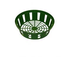 Xclou 346500 Set di 3 Piante, Rotondi, in plastica, Diametro 21 cm, per bulbi di Fiori, 3 cestini per cipolle da Giardino, Verde, 22 x 22 x 7.5 cm