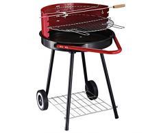 Outsunny Grill all'Aperto, Barbecue a Carbonella in Stile Americano, Semplice Griglia Mobile da Campeggio Balcone, 67 x 51 x 82 cm