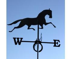 SvenskaV - Segnavento con motivo a cavallo, in acciaio, 43 x 60 cm, colore nero