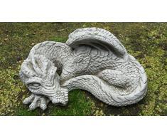 Medium Sleeping Dragon ornamento da giardino in pietra – /Statua/Scultura