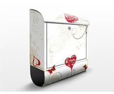 Cassetta postale design Heart Background 39x46x13cm, Größe:46cm x 39cm