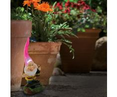 Naeve Leuchten, Nano da giardino, incl. 1x LED / 1x NiMH Typ AA / 1,2 V / 300 mA con pannello solare / interruttore on-off