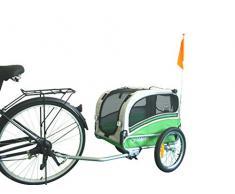 POLIRONESHOP SNOOPY rimorchio per trasporto cani cane animali carrello carrellino trasportino rimorchi da bici bicicletta dog portacani portacane porta appendice x (Verde, Small)