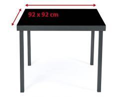 Ultranatura Korfu Tavolo da Giardino in Alluminio, Antracite