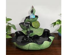 ufficio cinese feng - shui fortunato fontana rotonda salotto decorazione decorazione decorazione umidificazione tank,stagno del loto moonlight (vento acqua palla) segnando 32.5cm 36,5 *