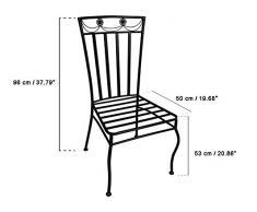 Soggiorno da giardino con 4 sedie ed 1 tavolo, corredo di mobili da giardino con 4 sedie in ferro battuto, 1 tavolo rotondo Ø122 cm in ferro battuto con ripiano in marmo, nell'assortimento sono inclusi i cuscini.