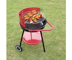 BBQ-- Barbecue Griglia a Carbone Professionale per 2-5 Persone, Utensile Grill Barbecue Carbone Pieghevole per Picnic con Gli Amici Riunione di Famiglia in Balcone e Giardino,75 * 60cm