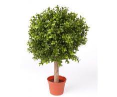 Set 2 x di Cespuglio di bosso artificiale a sfera TOM con tronco, 250 foglie, 35 cm, Ø 25 cm. - 2 pezzi di Cespuglio in vaso / Cespuglio sempreverde - artplants