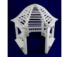 Miniatura Per Casa Delle Bambole 1:12 Scala Mobili Da Giardino In Legno Bianco Pergola Gazebo
