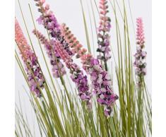 Set 2 x di Ciuffo d'erba con lavanda decorativo, rosa, 60 cm - 2 pezzi di Arbusto decorativo / Pianta artificiale in vaso - artplants
