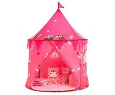 Knowled Castello Principessa Tenda da Gioco, Picnic Allaperto Ragazzo Portatile Ragazza Coperta per Bambini Regalo per Bambini età Applicabile 3-8 Anni