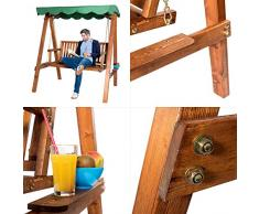 Ampel 24, Dondolo da giardino a gazebo | mobili da giardino in legno | tetto, parasole verde