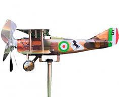 Generico Air Hunter, Aereo Segnavento Spad XIII in Acciaio Inox con Cuscinetti a Sfera, Prodotto in Italia