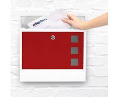 Relaxdays Cassetta Postale Design Moderno, con Porta-Giornale