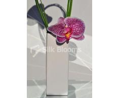 Minimalista e moderno Fresh Touch display Vaso Orchidea Rosa Artificiale con beargrass