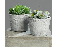 DPI pianta grassa artificiale in pietra pentola H16cm Arte piante Arte albero decorativo plastica albero 56611-33 16 cm 1