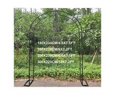 HLMBQ Arco per Rose da Giardino per arredo Giardino e Decorazioni,Resistente alle Intemperie per Piante rampicanti Traliccio ruggine Bianco 140x230cm,180x220cm